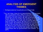 analysis of emergent themes13