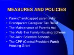measures and policies