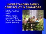 understanding family care policy in singapore