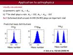 application to astrophysics