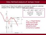 idea refined analysis of isotopic trend