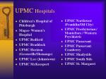 upmc hospitals