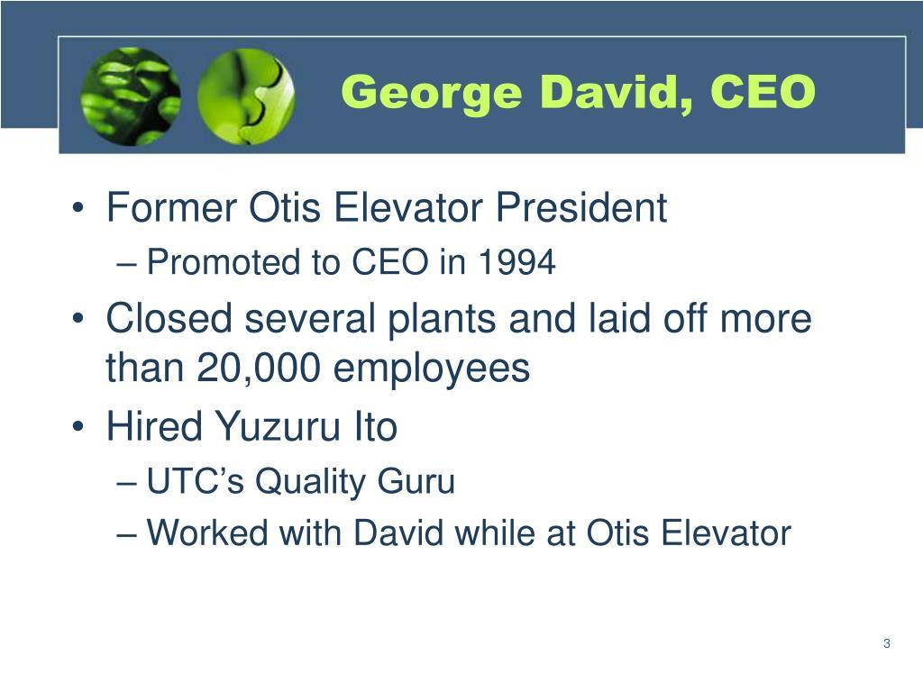 George David, CEO