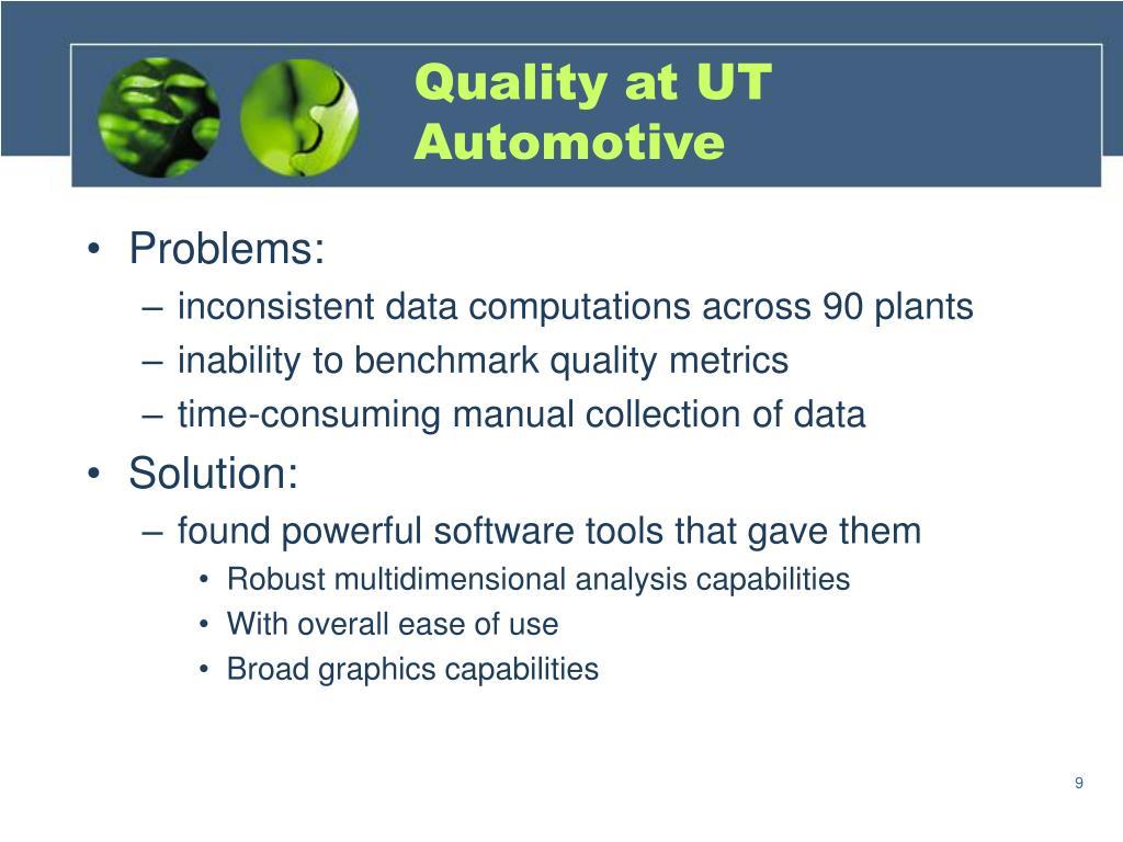 Quality at UT Automotive