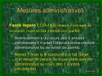 mesures administratives