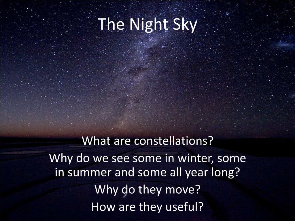 the night sky l.