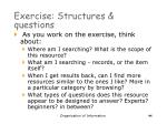 exercise structures questions