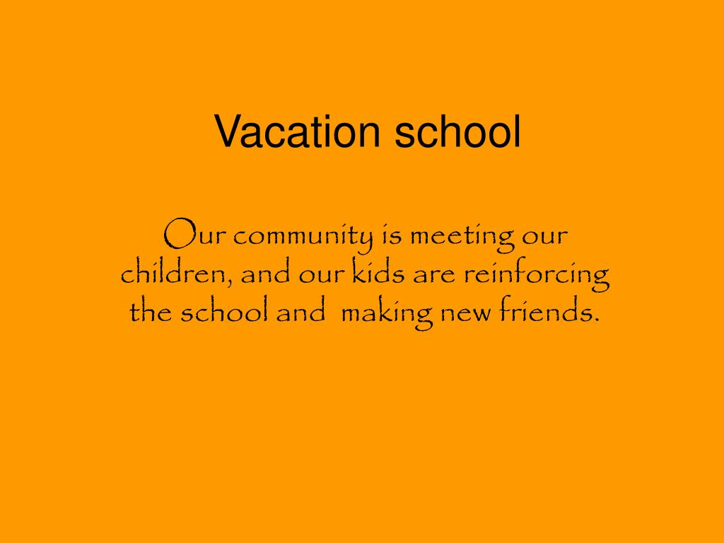vacation school l.