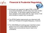 financial prudential regulation