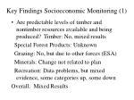 key findings socioeconomic monitoring 1