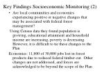 key findings socioeconomic monitoring 2