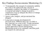 key findings socioeconomic monitoring 3