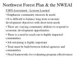 northwest forest plan the nweai