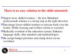 there is no easy solution to the skills mismatch