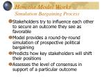 how the model works simulation bargaining process