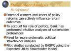 stakeholder analysis background