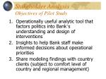 stakeholder analysis objectives of pilot study