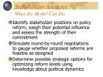 stakeholder analysis what the model can do