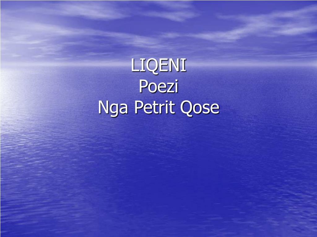 liqeni poezi nga petrit qose l.