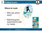 finding grants