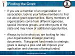 finding the grant11