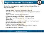 regionalism and collaboration
