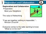 regionalism and collaboration27