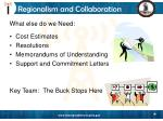 regionalism and collaboration29