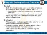 step 1 in finding a grant concepts5