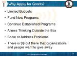why apply for grants