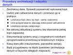 procedury archiwizacji i odzysku danych