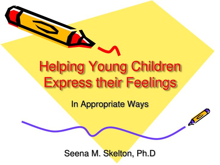 helping young children express their feelings n.