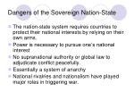 dangers of the sovereign nation state