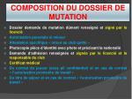 composition du dossier de mutation