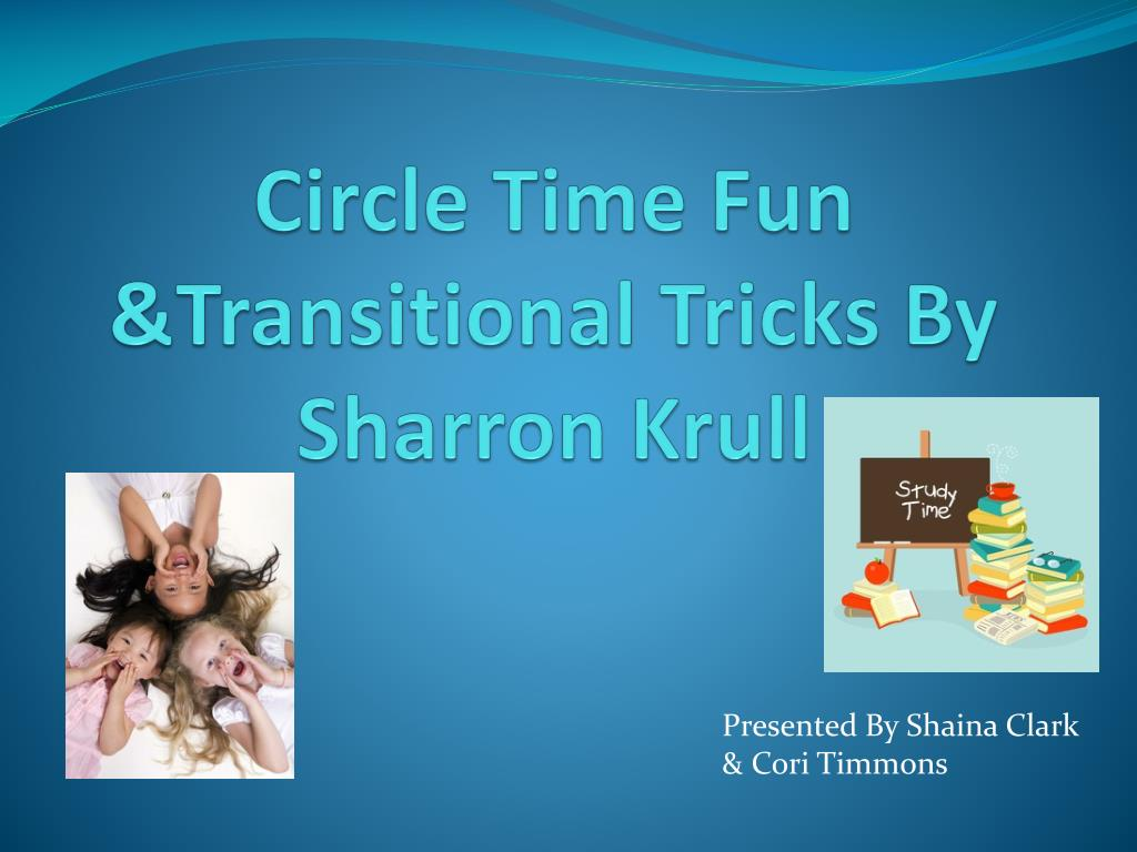 circle time fun transitional tricks by sharron krull l.