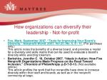how organizations can diversify their leadership not for profit