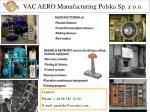 vac aero manufacturing polska sp z o o