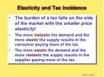 elasticity and tax incidence26