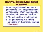 how price ceiling affect market outcomes