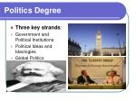 politics degree