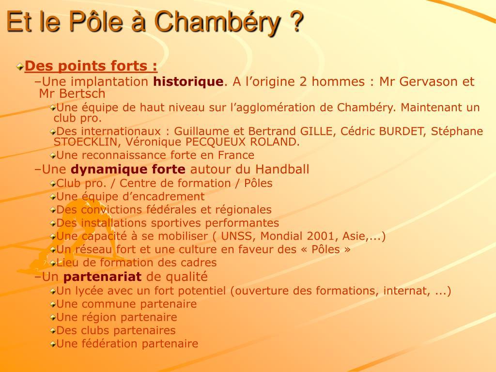 Et le Pôle à Chambéry ?