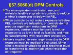 57 5060 d dpm controls