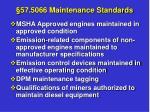 57 5066 maintenance standards