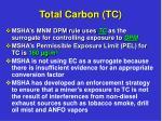 total carbon tc