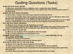 guiding questions tasks