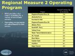 regional measure 2 operating program