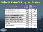 seismic retrofit program status