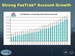strong fastrak account growth