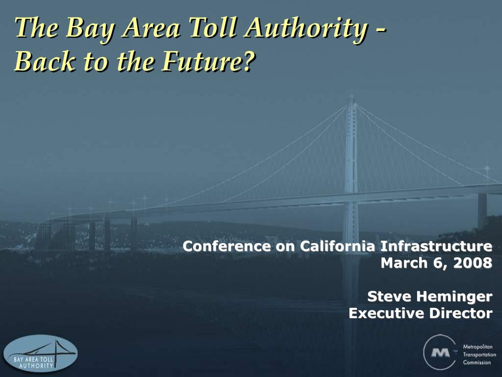 the bay area toll authority back to the future l.