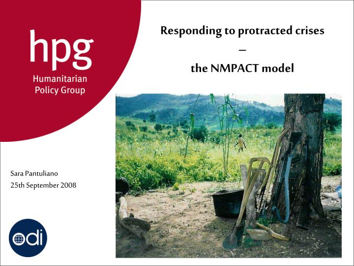 responding to protracted crises the nmpact model n.